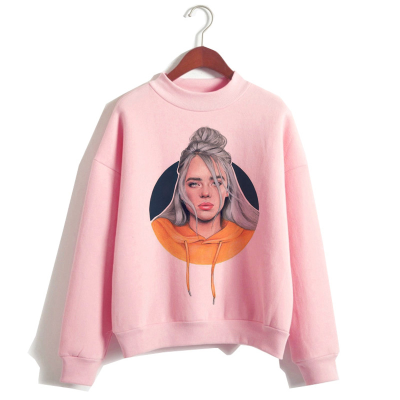 Billie Eilish 2019 Hoodie Women Clothes Sweatshirt Korean 90s Hooded Harajuku Print Hoodies Streetwear Top Casual Ulzzang Hood
