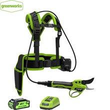 Беспроводные электрические секаторы GREENWORKS 40 в, профессиональные ножницы для дома и сада, секатор с литиевой батареей, ножницы для сада, Макс. 2,5 см