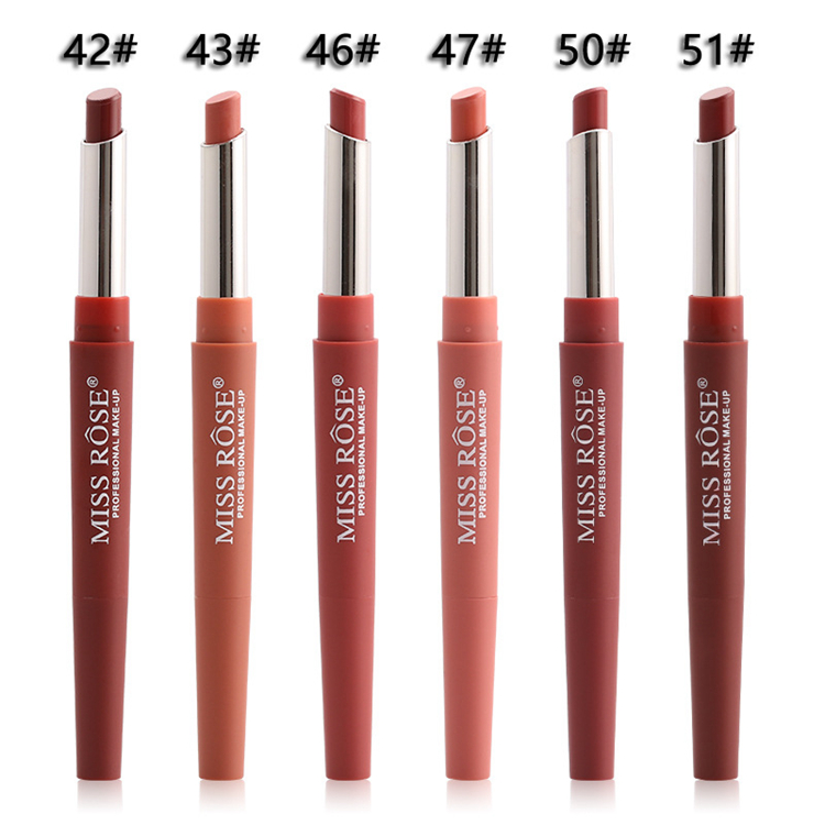 14 Color Double-end Lip Makeup Lipstick Pencil Waterproof Long Lasting Tint Sexy Red Lip Stick Beauty Matte Liner Pen Lipstick (3)