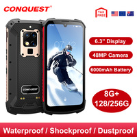 CONQUEST S16 Android Phone Rugged IP68 Waterproof NFC Smartphones IP68 Celular Cell phone Cellphones Mobile Phones Unlocked