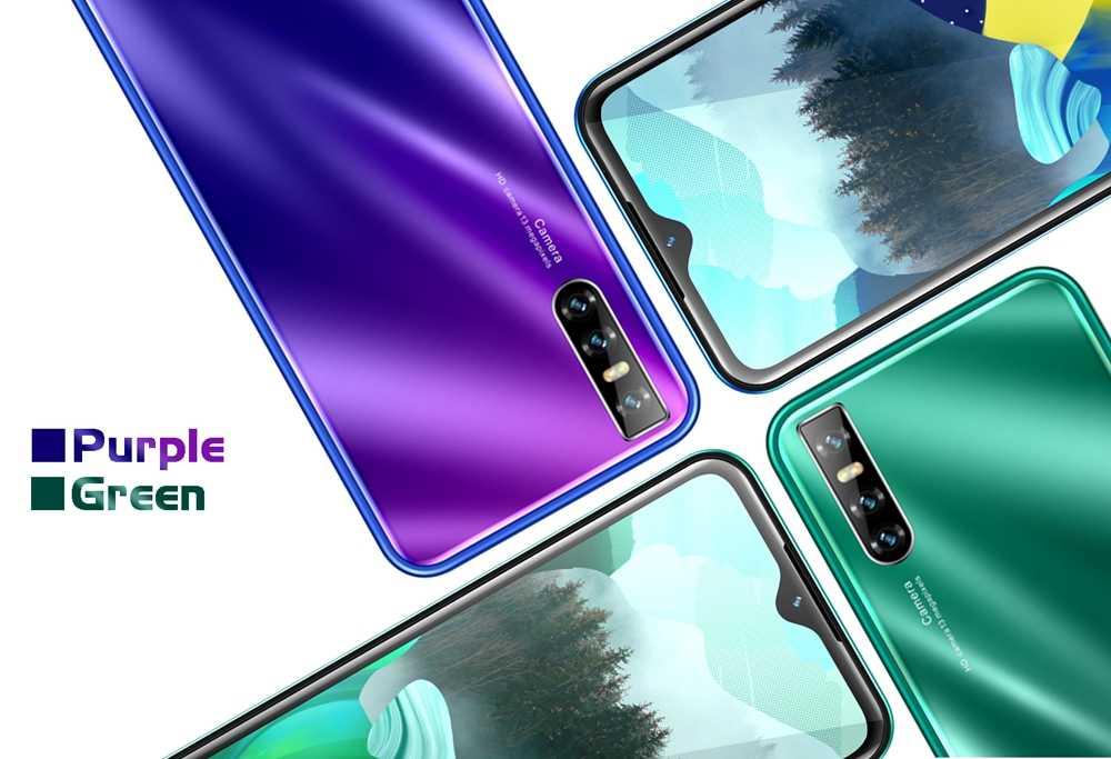 V30 6.26 inch Water Drop Big Screen Mobile Phones Quad Core 4G RAM 64G ROM Smartphones unlocked celulars MTK6580 13MP Cell Phone