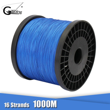 16 Strands 1000M Super Strong Braided Wire 60LB-310LB Multifilament PE Fishing Line Saltwater Fishing