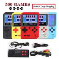 GC26 Portable Video Game Console Retro Handheld Mini Pocket Game Player Built-in 500 Classic Games Gift for Child Nostalgic Play
