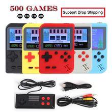 GC26 taşınabilir Video oyunu konsolu Retro el Mini cep oyun oyuncu dahili 500 klasik oyunlar hediye için çocuk nostaljik oyun