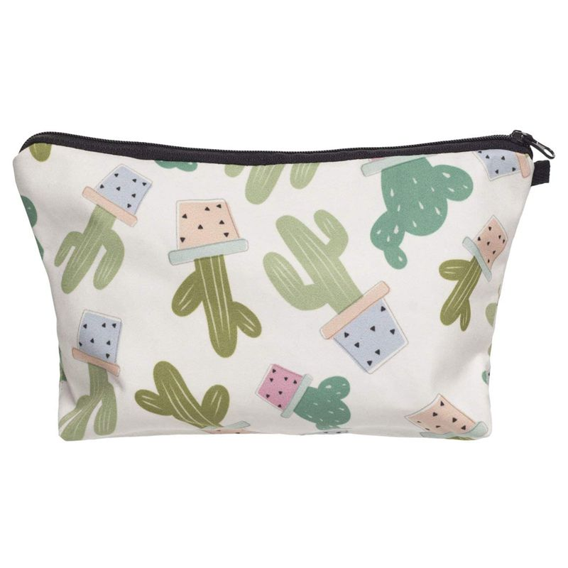 ABZC-Small Make Up Bag,Personalised Cosmetic Bag Wash Bag Makeup Pouch For Girls Or Women(Cactu)