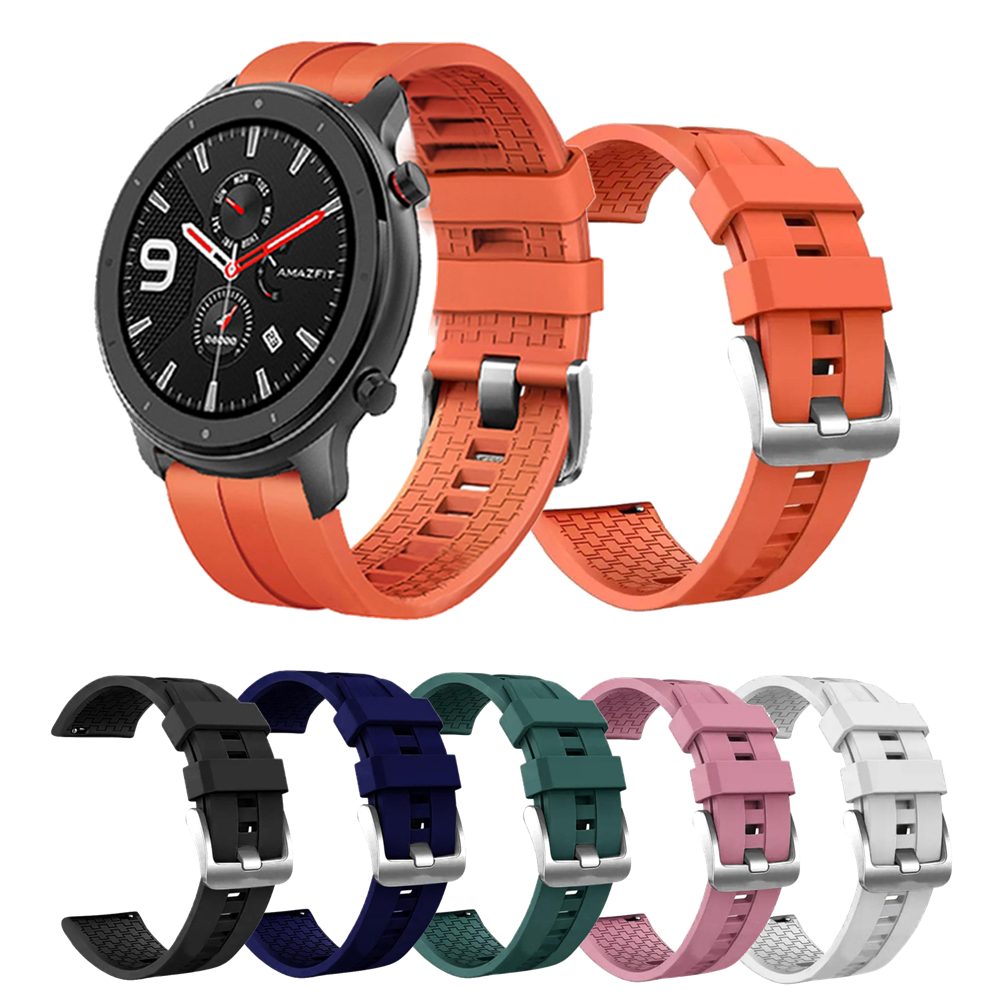 22mm Replacement Strap For Xiaomi Amazfit Gtr 47mm Smart Watch Band For Polar Vantage M Watchband Silicone Wrist Strap Bracelet