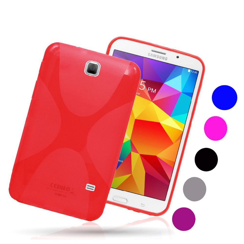 X Line Gel SKin Shell Silicon <font><b>Case</b></font> Back Cover Protective <font><b>Case</b></font> For <font><b>Samsung</b></font> <font><b>Galaxy</b></font> <font><b>Tab</b></font> 4 <font><b>7.0</b></font> TPU T230 T231 T235 T239 T239C image