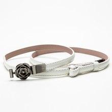 Small Belt Metal Flower Buckle Belts for Women PU Leather Dress Long Shirt Waistband Solid Waist Women Belts ceinture Femme приспособление jtc 1113