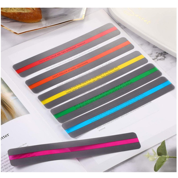 8 Pieces Reading Guide Strips Highlighter Colored Overlays Bookmark Read Strips For Student Teacher Dyslexia People