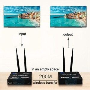 Image 3 - 5GHz Senza Fili di Trasmissione HDMI Extender Trasmettitore Ricevitore Video Converter 100M 200M Wireless Wifi HDMI Sender DVD PC per TV