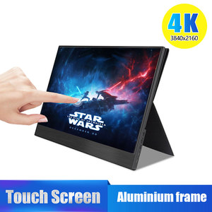 Image 1 - 4K Touch 15.6 Portable Monitor,13.3 Inch 3840 x2160 Ultra Slim IPS LCD Display With HDMI Type C for Computer Laptop PS4