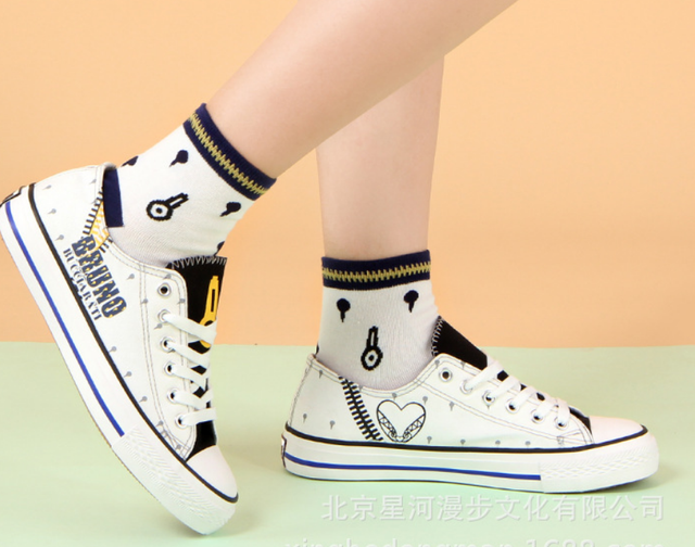 JOJO's Bizarre Adventure Golden Wind cos canvas fashion shoes casual men and women college anime cartoon students low help 4
