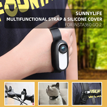 Camera Strap Silicone Wear Protective Cover Wristband Palm Backpack Stripe Bicycle Strap Cat Collar for Insta360 GO2 Accessories
