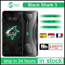 Original Schwarz Shark 3 Globale Version 8G 128G Gaming 5G handys Octa Core 4720mAh 65W 6.67