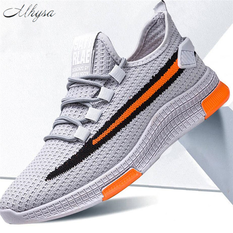 Mhysa 2020 Men Sneakers Fashion Mesh Breathable Men's Casual Shoes Outdoor Men Walking Shoes Tenis Masculino Zapatillas Hombre