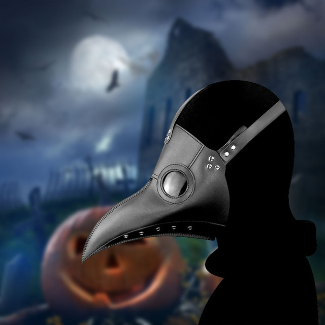High Quality Punk Leather Steam Plague Bird Beak Mask Halloween Cosplay Prop Plague Doctor Party Carnival Easter Gothic Style 5 2