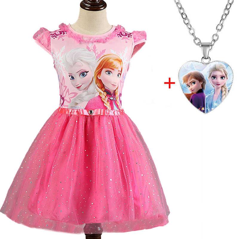 Elsa Anna 2 Dresse Set Für Mädchen Karneval Kostüm Kinder Kleider Kinder Weihnachten Cosplay Bithday Party Kleider