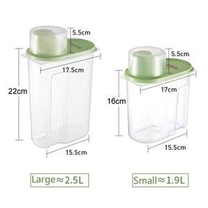 Image 5 - PP Lebensmittel Lagerung Box Kunststoff Klar Container Set mit Gießen Deckel Küche Lagerung Flaschen Gläser Getrocknete Körner Tank 1,9 L 2,5 L H1211