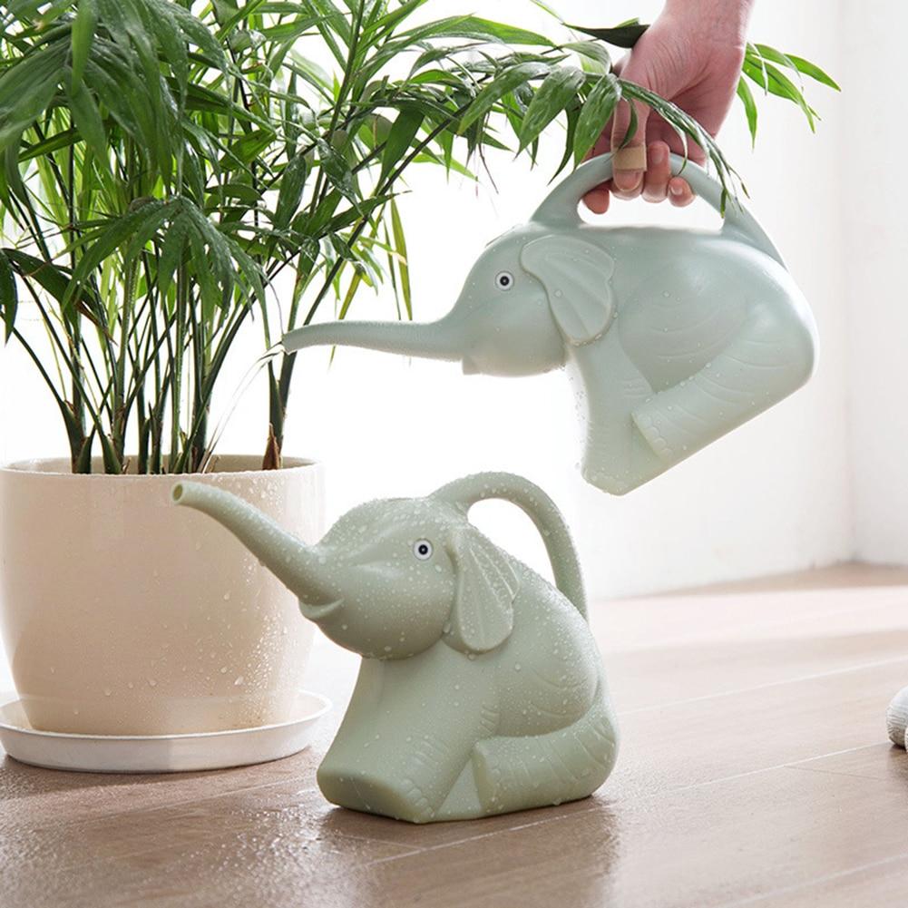 Пластиковая кастрюля для полива слона, длинная насадка для сада, с ручкой, для комнатных растений, внутреннего дворика