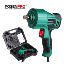 POSENPRO Electric Impact Wrench 12V 300N.m Digital Torque Panel Cigarette Lighter Cordless