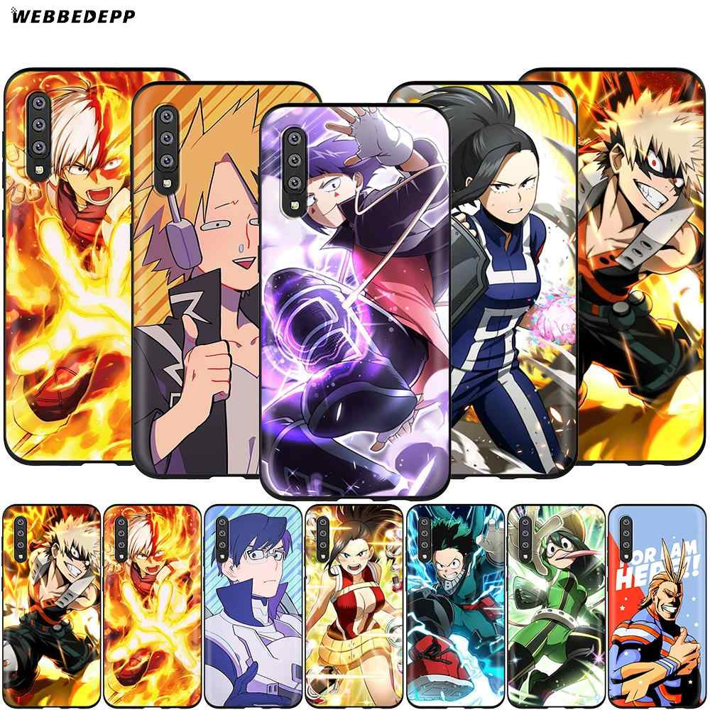 Webbedepp My Hero Academia Case for Samsung Galaxy S7 S8 S9 S10 Plus Edge Note 10 8 9 A10 A20 A30 A40 A50 A60 A70