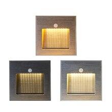 Lámparas LED de pared para interiores, luz de pared clásica empotrada, luz de escalera LED de 3W para decoración de interiores, escalera, pasillo, Aluminio