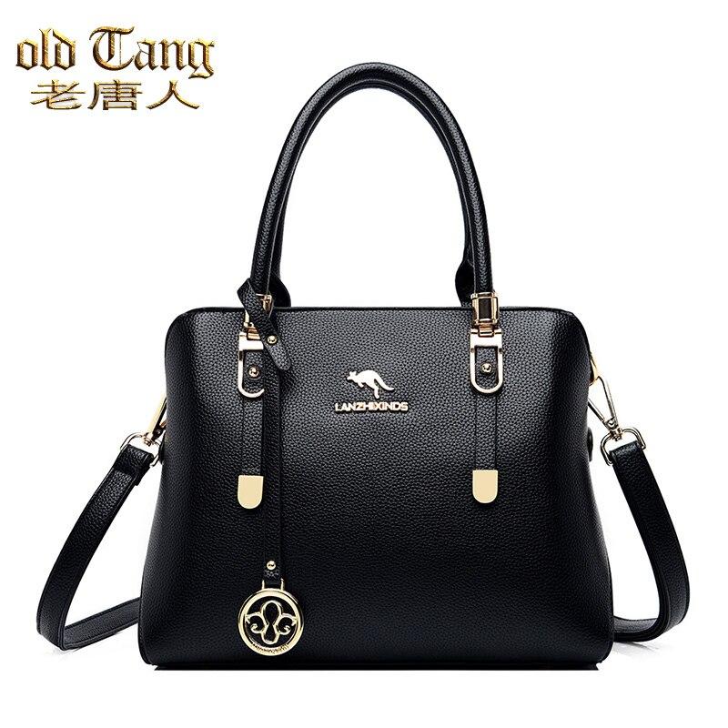 Velho tang nova moda de alta qualidade sacos mão para as mulheres 2020 couro do plutônio grande capacidade ombro ocasional simples tote mensageiro sacos