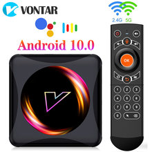 Vontar z5 smart tv box android 10 4g 64gb rockchip rk3318 suporte 1080p 4k google play youtube media player tvbox conjunto caixa superior