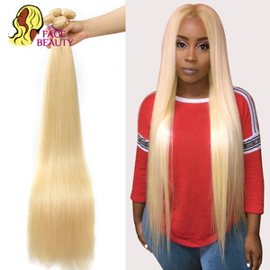 Image 4 - Facebeauty 613 Blonde 1/3/4 Brazilian Hair Bundle Straight Weave Remy Human Hair Weft 26 28 30 32 34 36 38 40 Inch Free Shipping