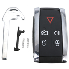 New Arrival 1pc 5 Buttons Remote Key Fob Case Shell+Uncut Blade For Jaguar X XF XK XKR Dedicated Replacement Car