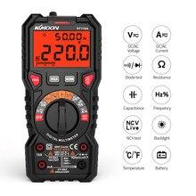 Ht118a multímetro digital multifuncional 6000 contagens rms verdadeiro medição tensão atual freqüência temperatura ncv teste de diodo