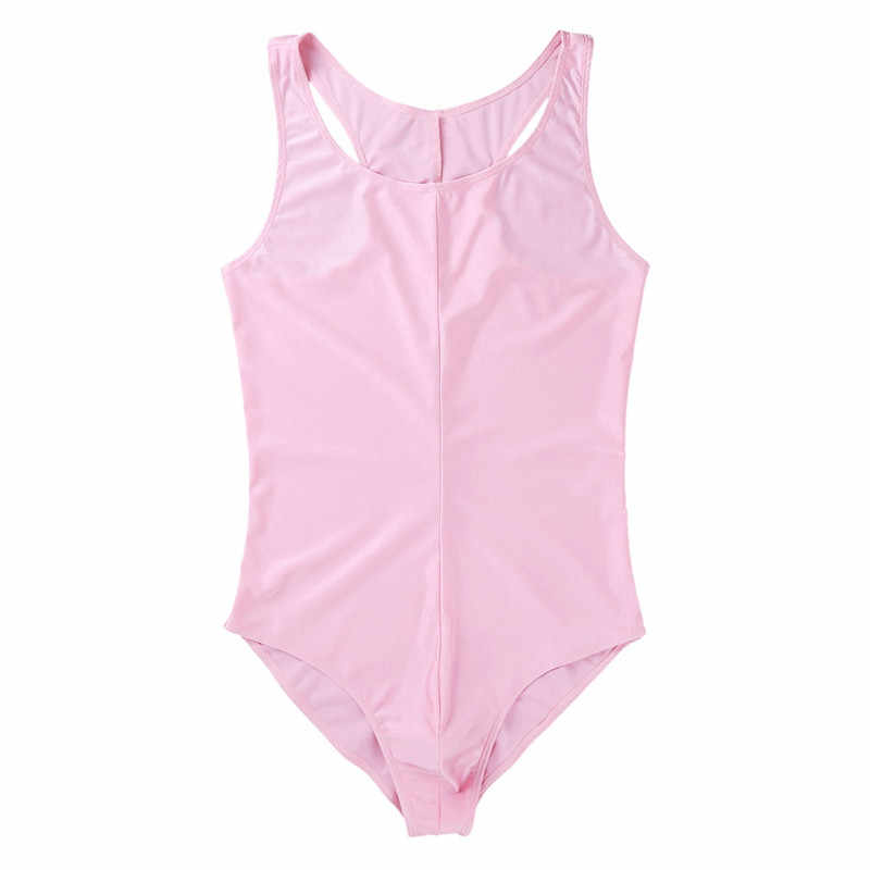 Hommes nager une pièce Homme sans manches encolure dégagée lisse poche de renflement justaucorps hommes sous-vêtements Clubwear