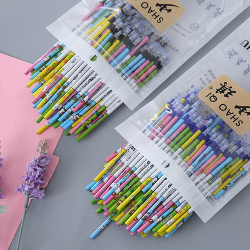 100 Pcs/set Printing Erasable Pen Refill Rods Animal Magic Erasable Refill School Office Writing Supplies Kawaii Stationery