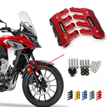 For Honda CB500X CB500F CB500 Universal Motorcycle Mudguard Side Protection Mount Absorber Front Fender Cover Anti fall Slider