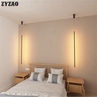 Minimalist Strip Pendant Lights Bedroom Bedside Lamp Nordic Designer Home Deco Pendant Lamp Creative Living Room Light Fixtures