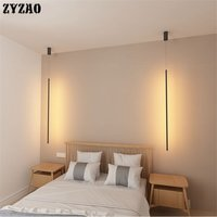Minimalist Strip Pendant Lights Bedroom Bedside Lamp Nordic Designer Home Deco Pendant Lamp Creative Living Room Light Fixtures