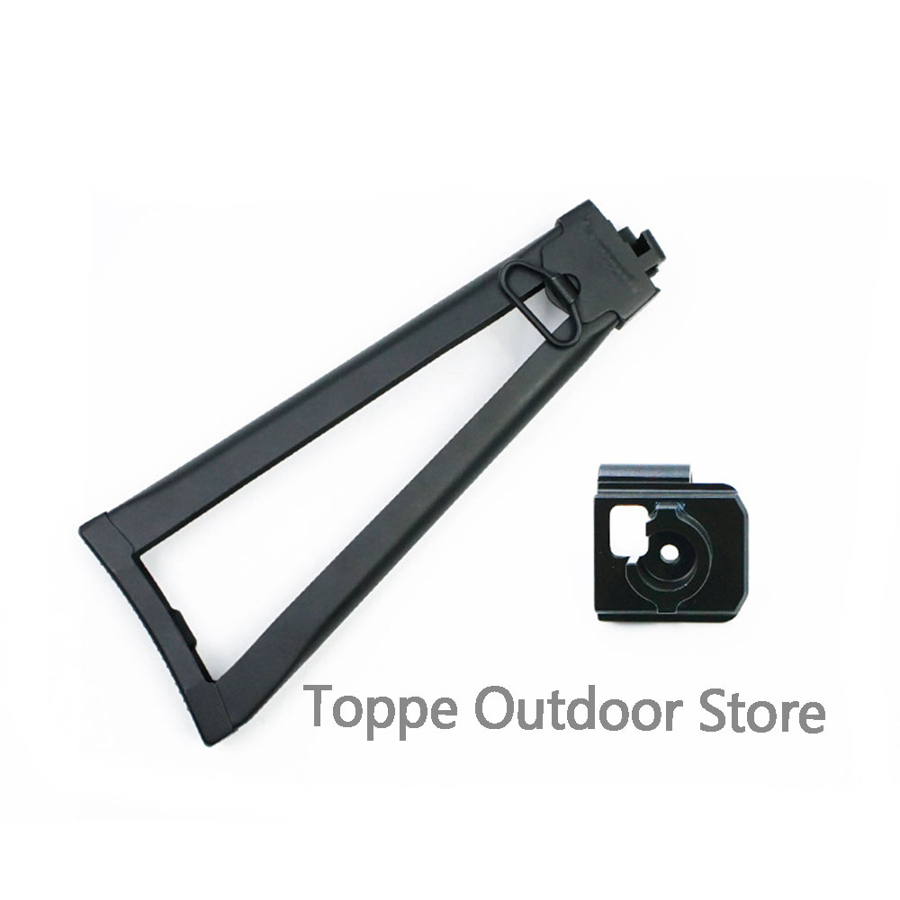 CP AK74M 105 AKA Metal Triangle Rear Support Foldable Butt Battery Adapter Modified Water Bomb Accessories