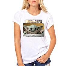 Hot Sales Star Wars Baby Yoda Women T-Shirt Fashion The Child Mandalorian Printed T Shirts Short Sle