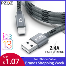 PZOZ usb cable for iphone cable Xs max Xr X 8 7 6 plus 6s 5