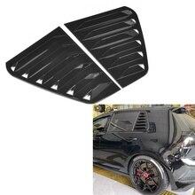 1 пара, Автомобильные Боковые Решетки на вентиляционное отверстие, решетка, обшивка, модификация автомобиля, подходит для VW Golf GTI R Mk7/Mk7 2013-2020, ...