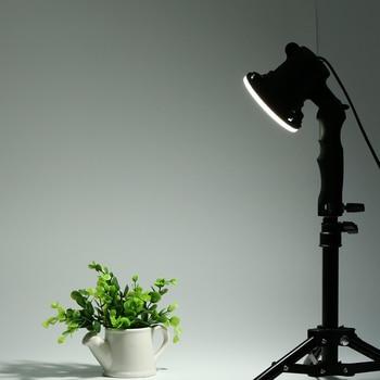 1 piece LED lamp photography studio light bulb portrait soft box fill light lights bulb and 37CM light stand