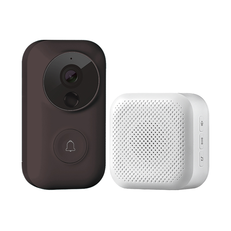 Smart Home Zero AI Face Identification 720P IR Video Doorbell Set Motion Detect Intercom Free Cloud Storage Voice Charger Talk
