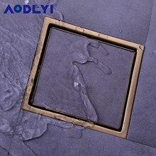 Szczotkowane złoto odpływ prysznicowy ze stali nierdzewnej czarna podłoga w łazience płytka odpływowa wkładka kwadratowa podłoga odpady kratki 150X150