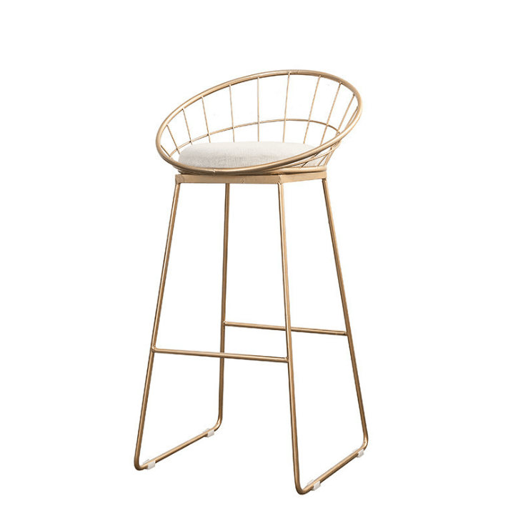 Nordic Bar Stool Wrought Iron Cashier High Stool Modern Minimalist Back Bar Chair Creative Personality Bar Chair