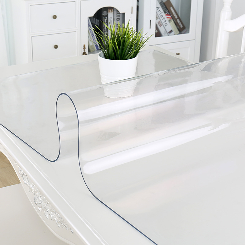 PVC Tablecloths Transparent Acrylic Clear Table Protector Vinal Tabletop Protection Cover Carpet Protector Office Desk Mat 1-2mm