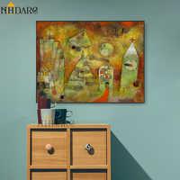 Пол Клее дом город печать высокого качества на холсте/пейзажи живопись винтажный настенный плакат художественные картины для гостиной дом...
