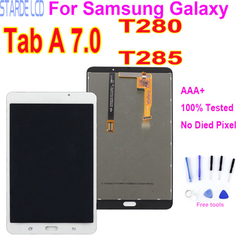 7 LCD Display For Samsung Galaxy Tab A 7.0 2016 SM-T280 WIFI SM-T285 3G Touch Screen Glass Panel Digitizer Assembly Replacement free shipping for samsung galaxy tab 3 8 0 sm t310 t310 wifi touch screen digitizer glass lcd display assembly replacement