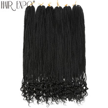 30inch Crochet Hair Box Braids With Curly Ends Synthetic