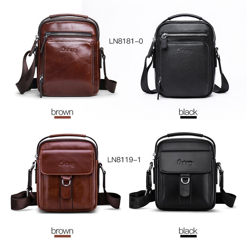 Image 4 - Men Bag Crossbody bag 100%genuine Leather Messenger Bag Men Shoulder Brown Bag Handbag Crossbody Vintage Cowhide Travel Male Bag-in Crossbody Bags from Luggage & Bags