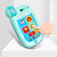 New Children touch the imitation mobile phone Simulation Touch Screen Music Phone with LED Stop Crying Educational Kids Toy